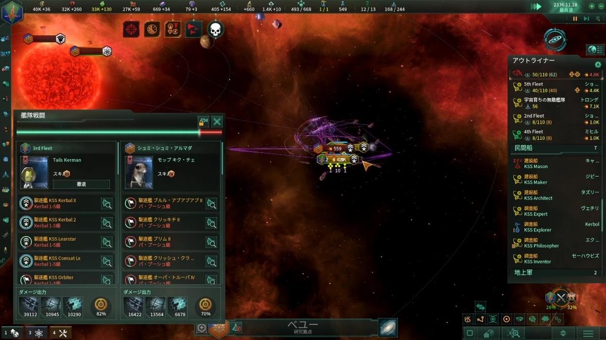 クナトザの主力艦隊撃破寸前