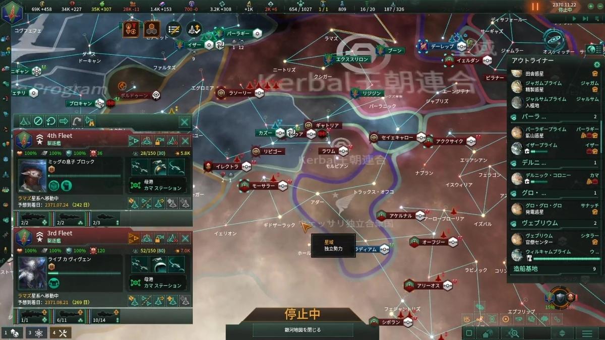 戦争序盤の敵の攻勢で押し込まれる