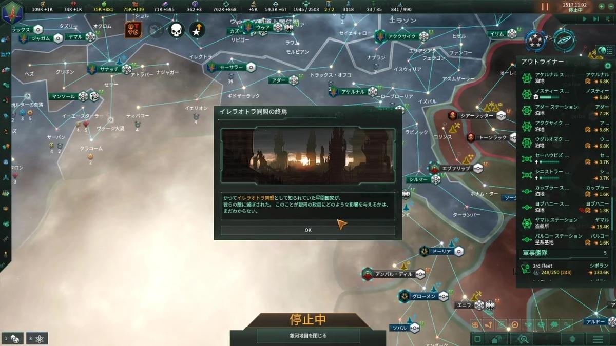 イレラオトラ同盟消滅