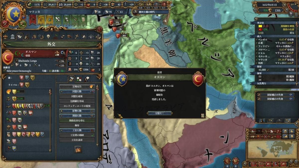 オスマンとの同盟