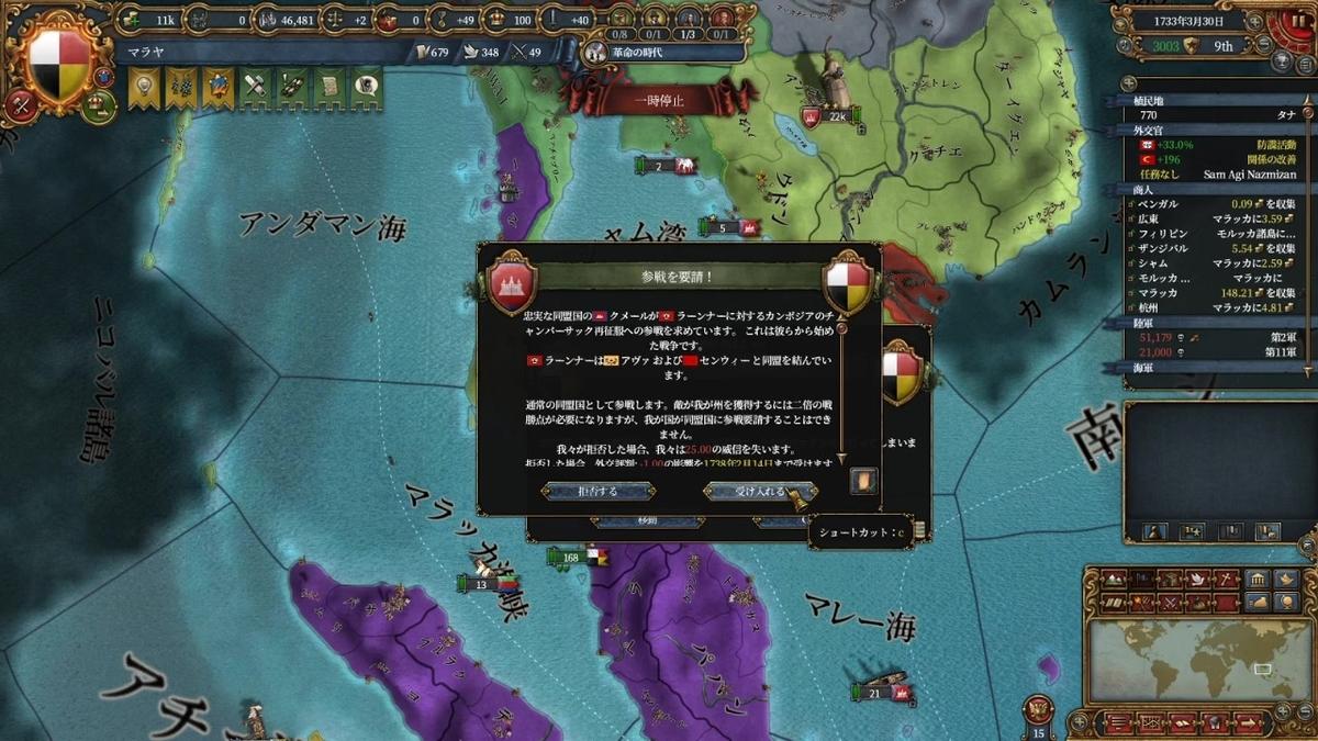 クメールのラーンナー再征服戦争参戦