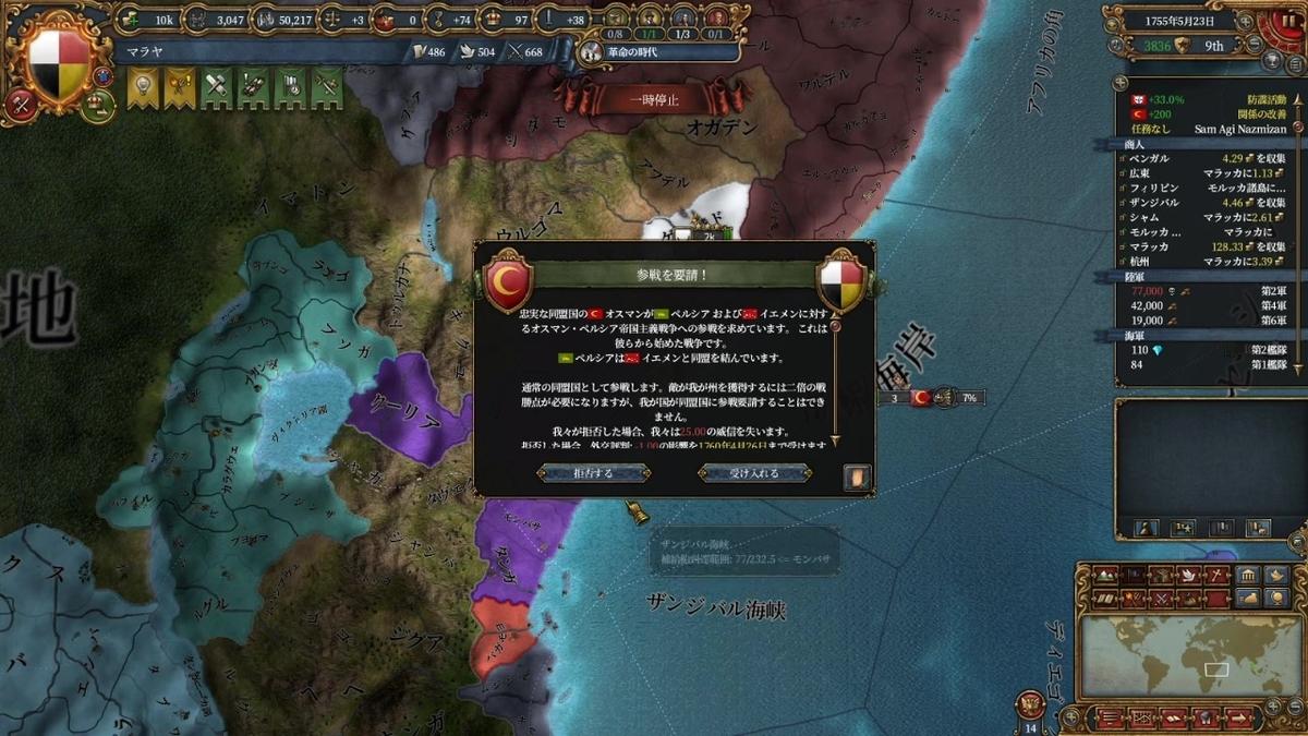 オスマンとペルシャの戦争開戦