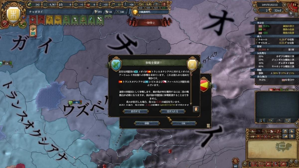 ノガイのトランスオクシアナ再征服戦