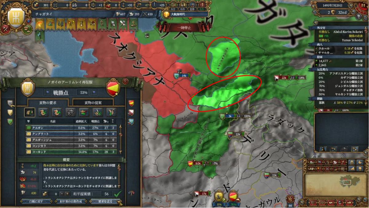 ノガイのトランスオクシアナ再征服戦の戦果