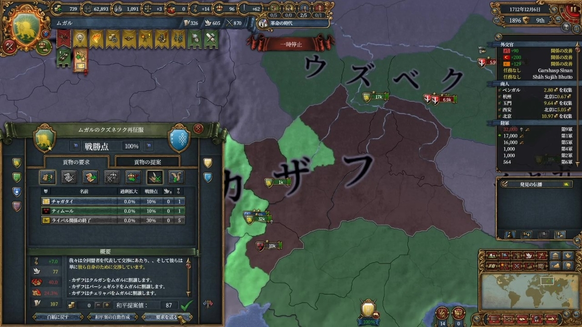 カザフ戦和平