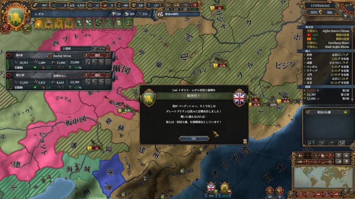 イギリスの宣戦布告