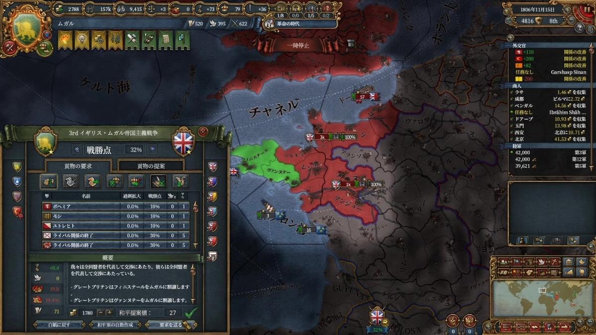 イギリス和平(3回目)