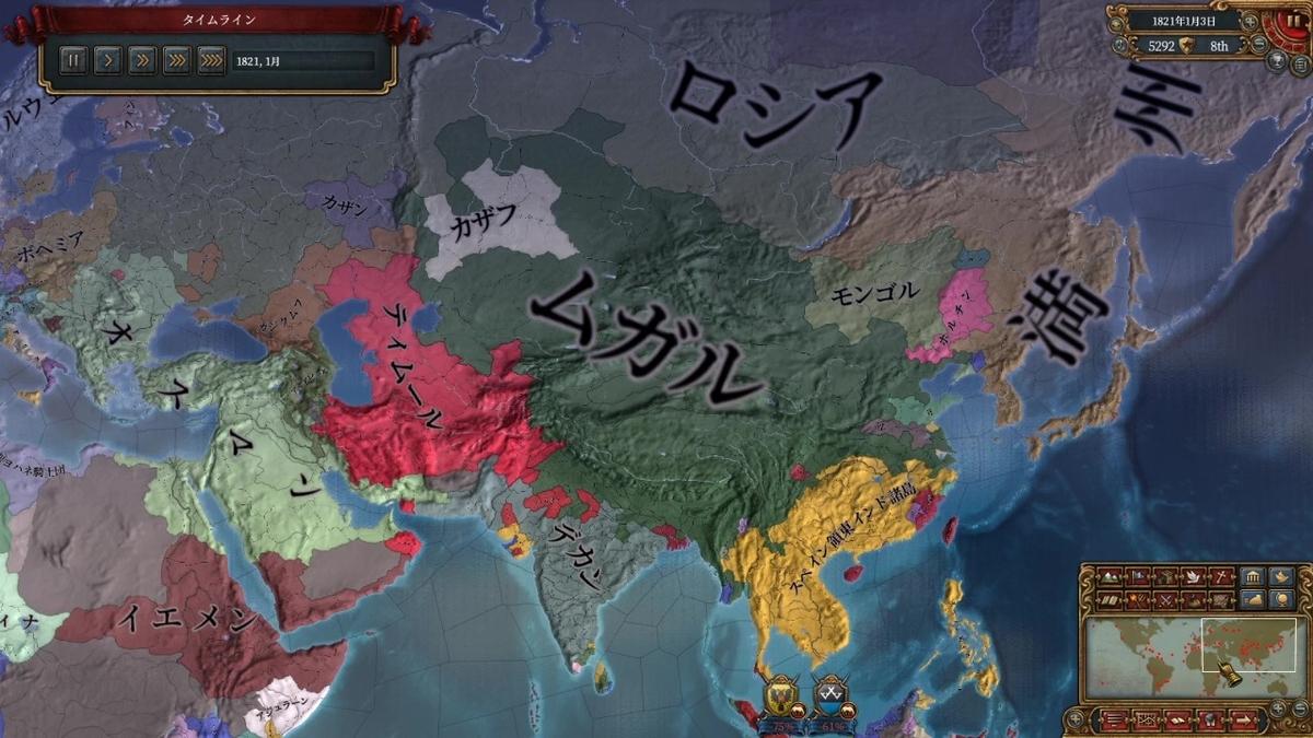 ゲーム終了時の領土