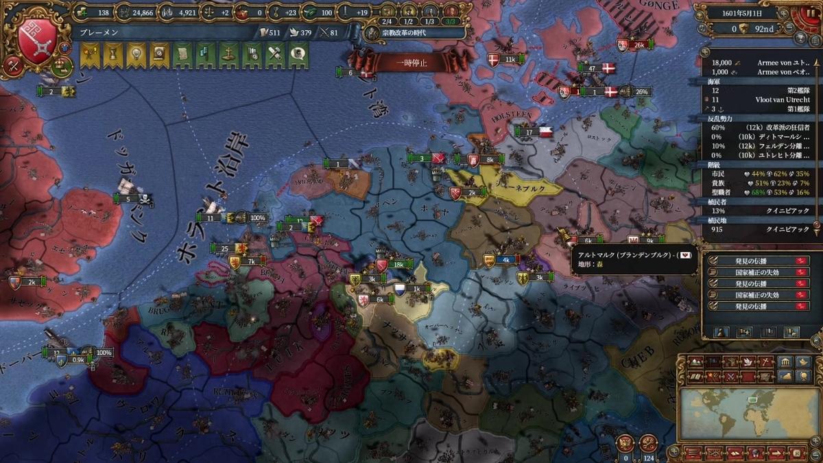 1600年代の領土
