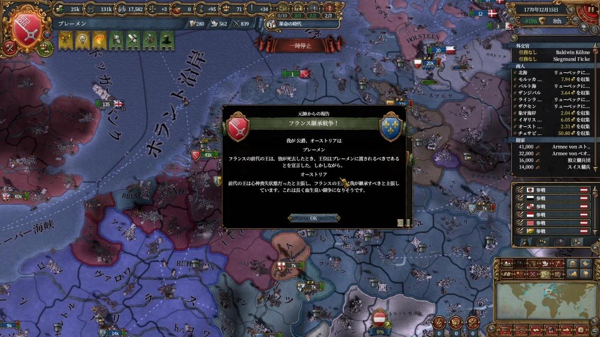 オーストリアが宣戦布告