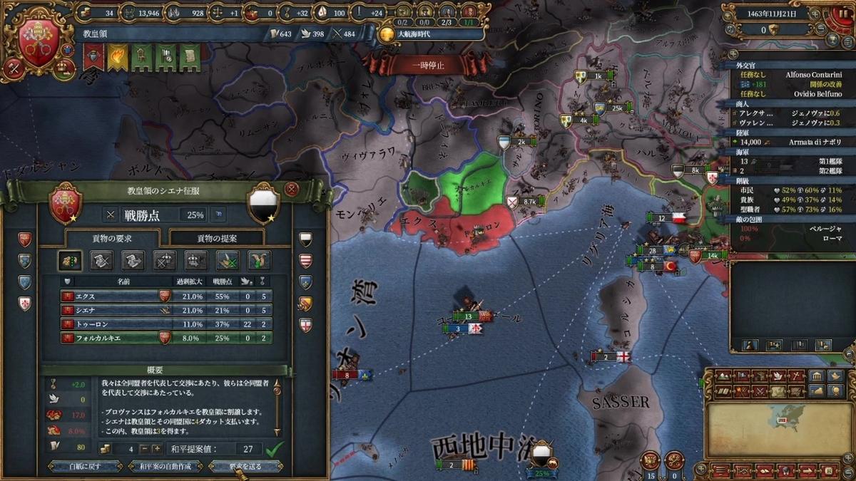 シエナ戦和平