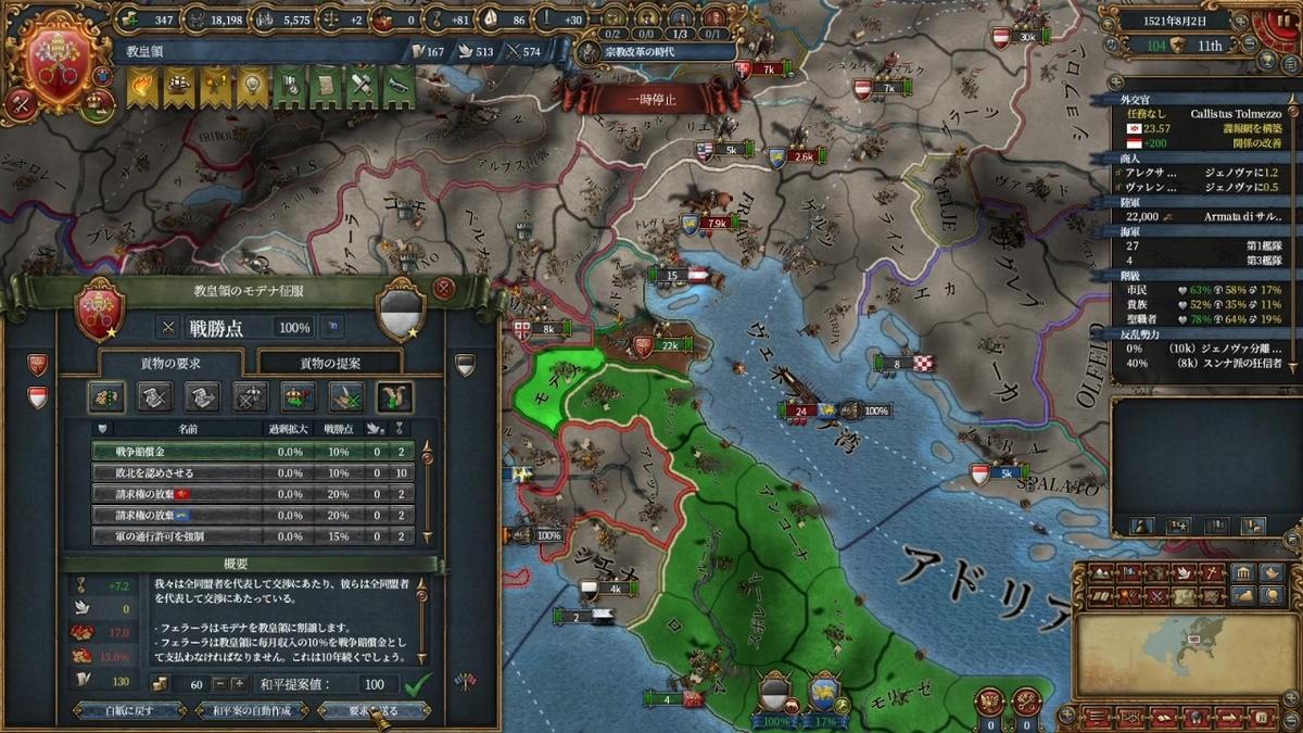 フェラーラ戦和平