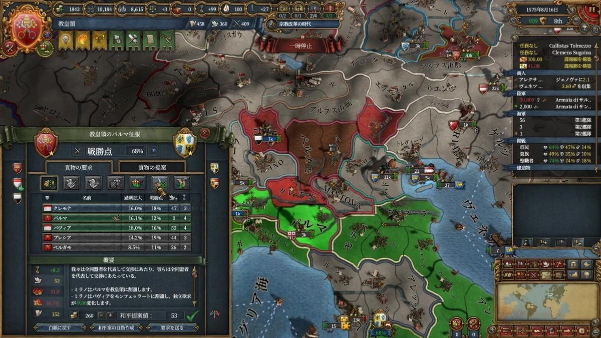 ミラノ戦和平