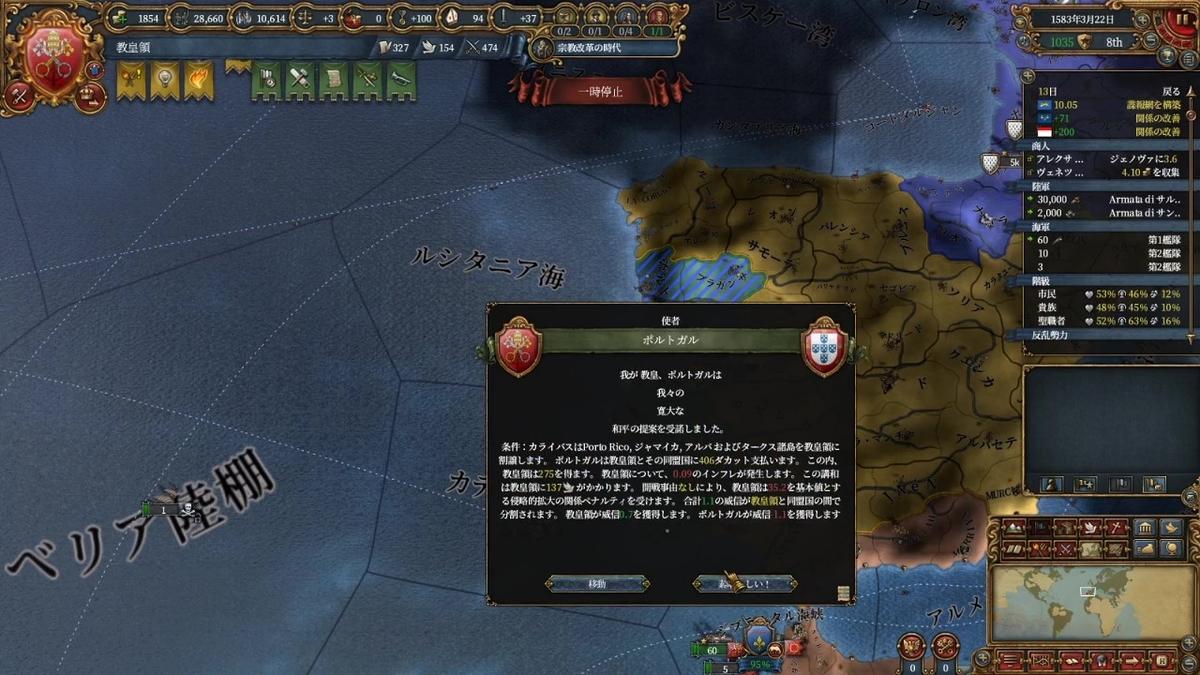 ポルトガルとの単独和平
