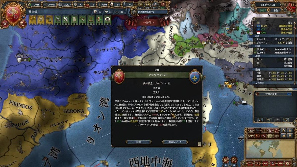 プロヴァンス戦和平