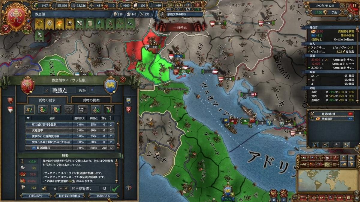ヴェネツィア戦和平