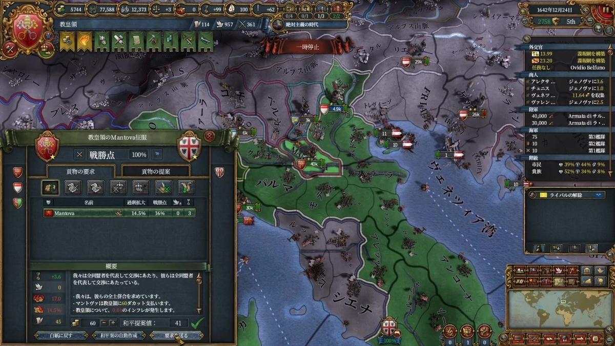 マントヴァ戦和平