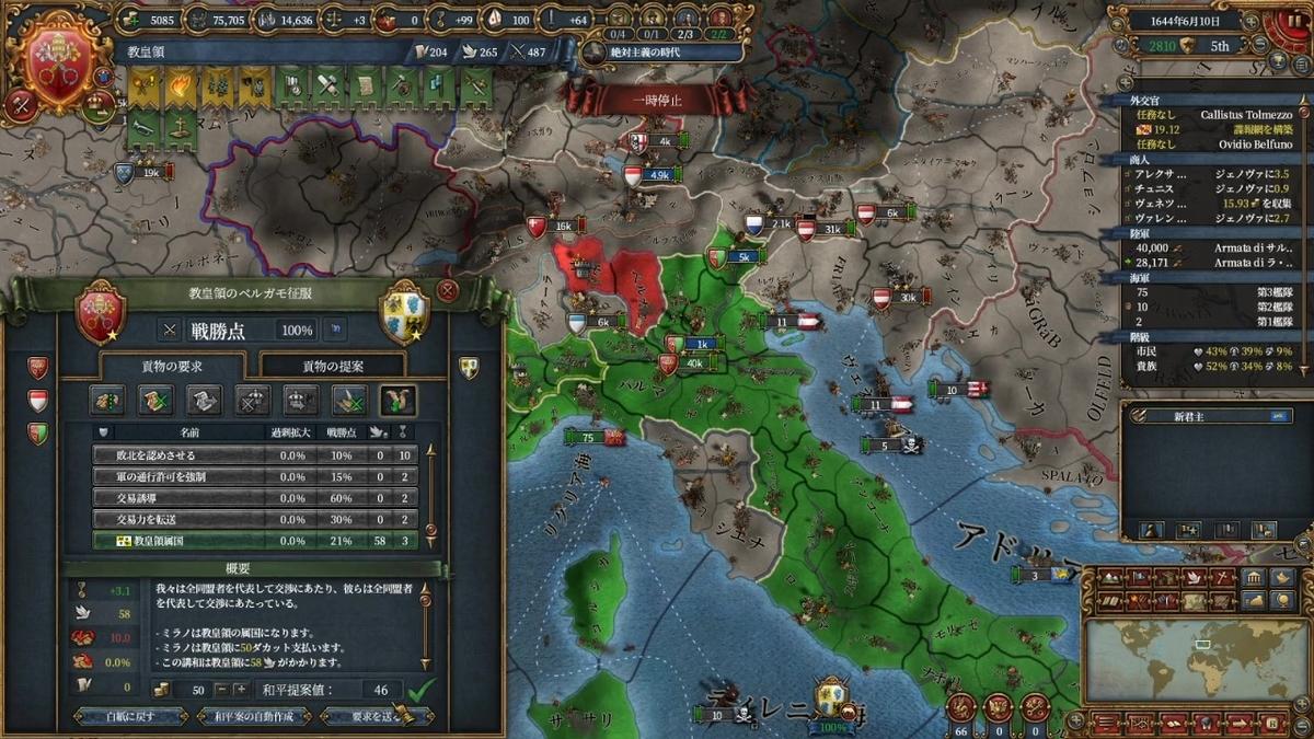 ミラノ戦和平(2回目)