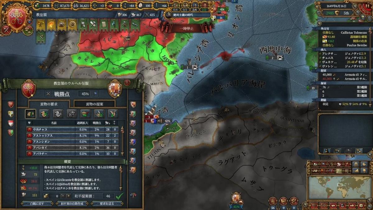 スペイン戦和平(3回目)