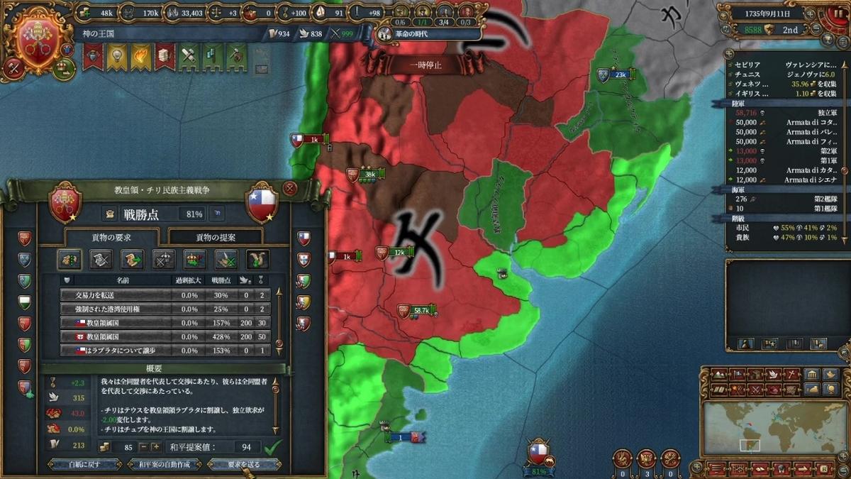 チリ戦和平