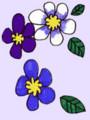 [イラスト][ムラタメグミ][村田めぐみ][メロン記念日][ハロプロ]青い花