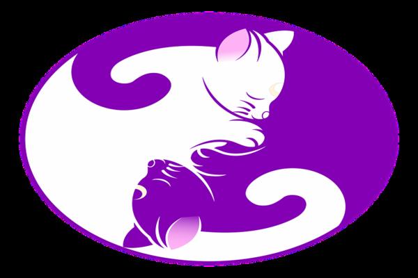 「猫の陰陽中庸シンボルマーク」二人目妊活中にリセットして落ち込んだとき、中庸を意識する気持ちの切り替え方が大切です。