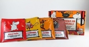 妊活におすすめなカルディのルイボスティーにはムーミンのパッケージでフレーバー付きのがある。