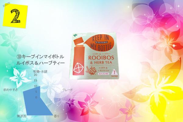 伊藤園のルイボスティーで妊活におすすめランキング第二位は、キープインマイボトルのルイボス&ハーブティーです。