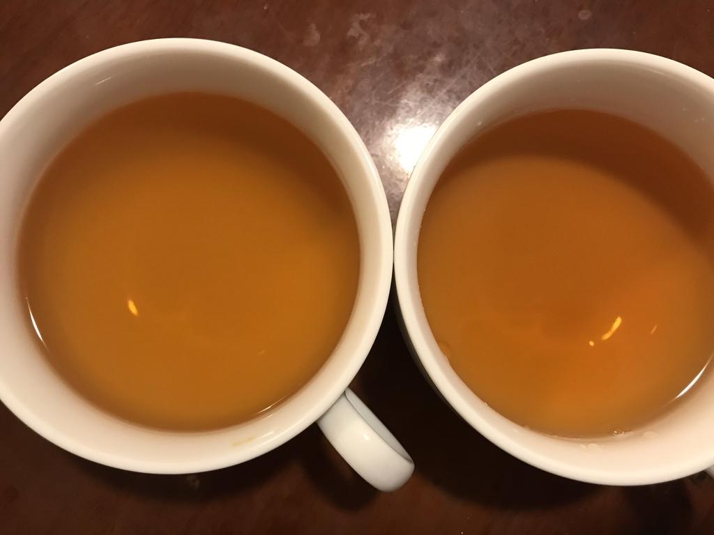 煮出しとティーカップ用両方を作ってみました