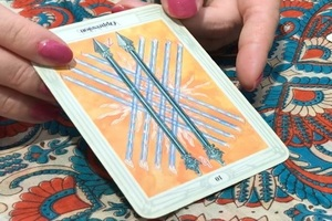 エンハーブの無料タロット占いイベントで、娘が三番目に引いたタロットカード。夫と遊んで欲しいため占い師に相談した。