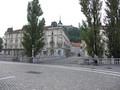 [リュブリャナ]プレシェーレン広場から旧市街を望む
