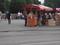 ザグレブ中央駅前のイチゴ屋台