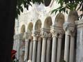 [ドブロブニク]フランシスコ修道院中庭、柱の彫刻は一本づつ違う