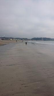 由比ガ浜海岸の砂浜