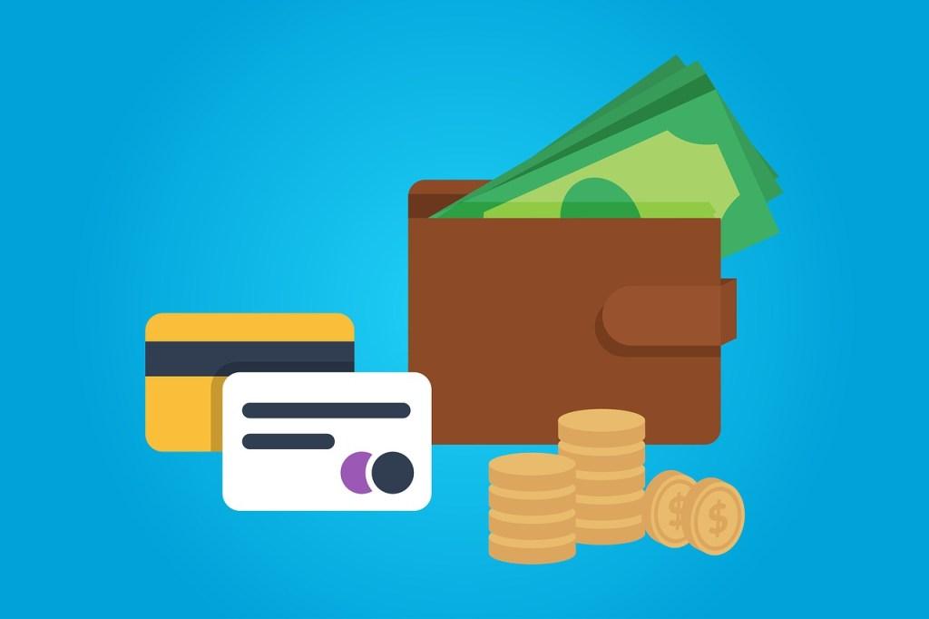 財布とカードとお金