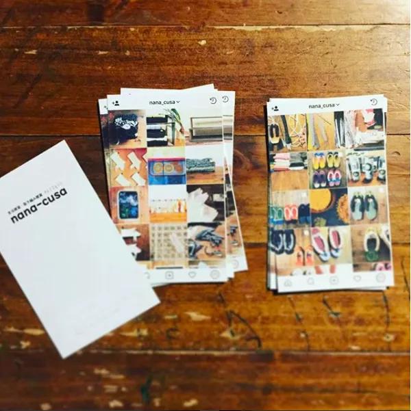 Instagram 仕様のショップカード