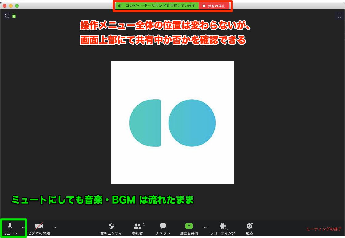 画面共有なしに、音楽・BGM を共有する方法3