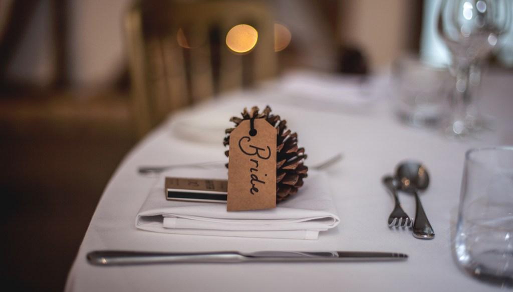 レストランのテーブルの上