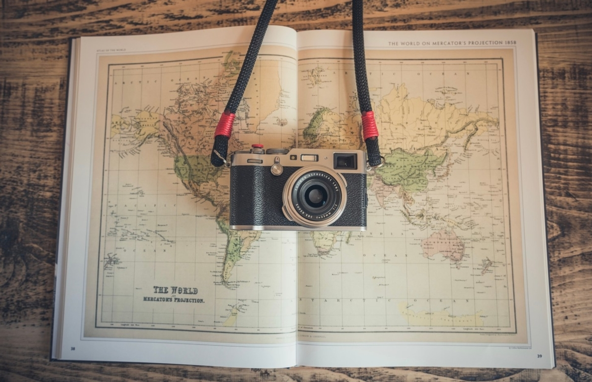 古地図とカメラ