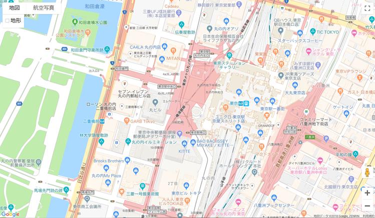 Google Maps APIを使ってマップを表示