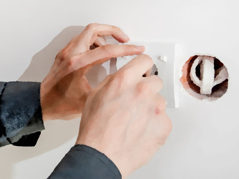 ブラケットライト設置方法・電気工事