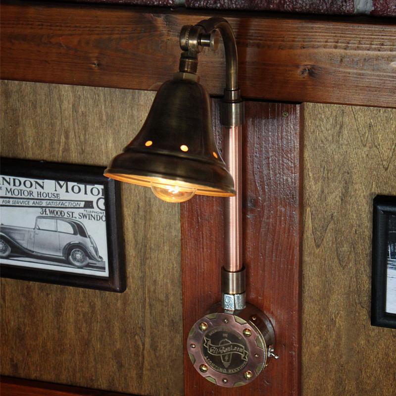 角度調整付きインダストリアルブラケットライト(壁掛け照明)|アンティーク・ヴィンテージ