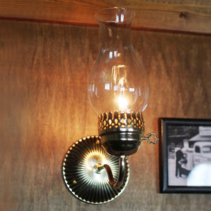 アンティークランプ|チムニー付ブラケットライト・アンティーク照明壁掛け照明