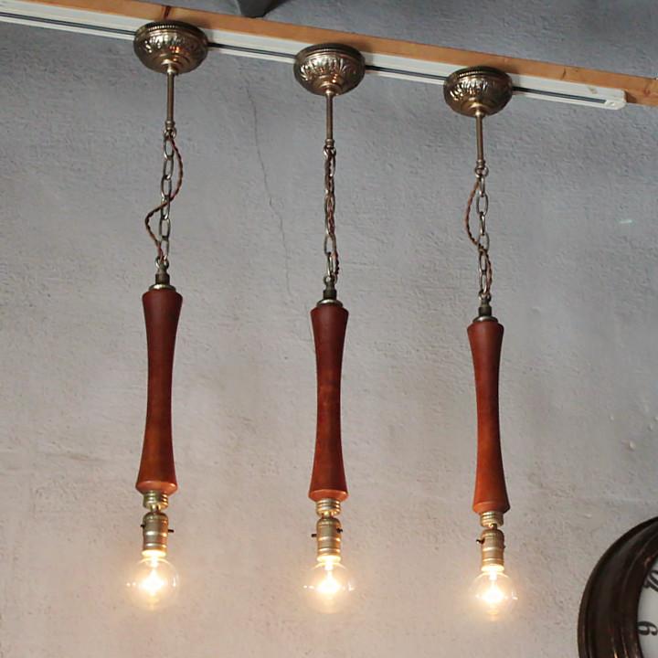 ミッドセンチュリーウッドペンダントライト|木製吊下げ照明USAヴィンテージ1950年代 [WPL-19-0001]