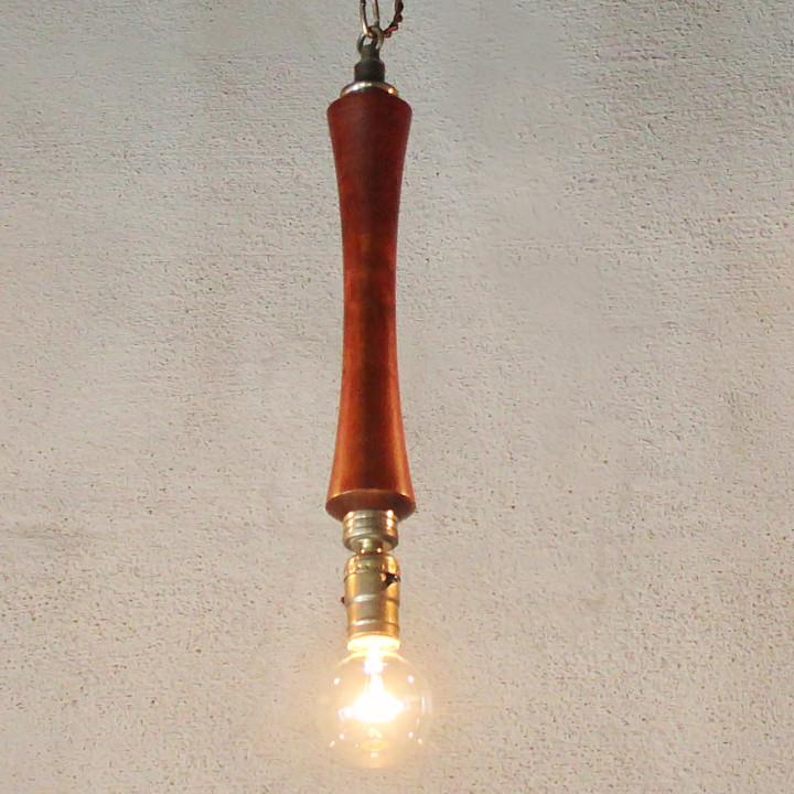 ミッドセンチュリーウッデンライト|木目ペンダントライト吊下げアンティーク照明・ヴィンテージ照明