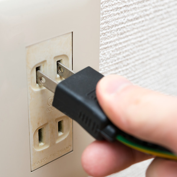 アンティーク照明・家庭用コンセントから電源をとる