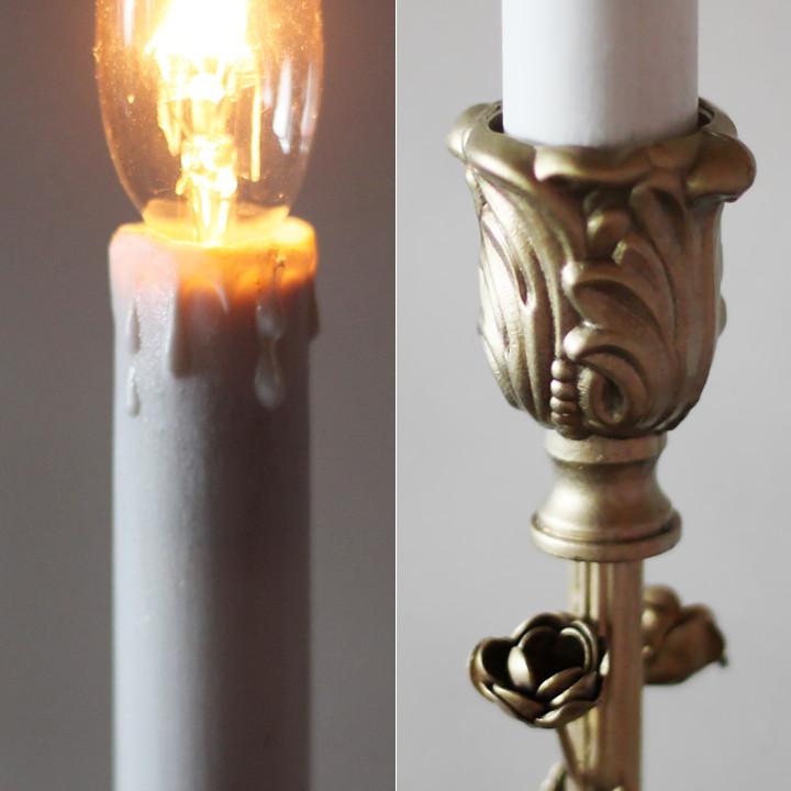 アンティークランプ テーブルライト卓上照明キャンドルカバー蝋台