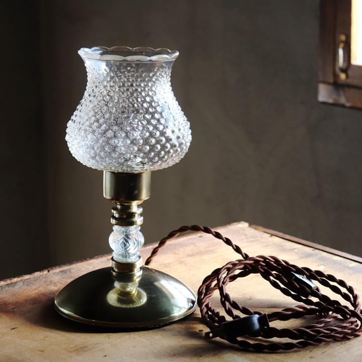 アンティークテーブルランプ卓上照明|コンセントに指して使える・LED電球使用可