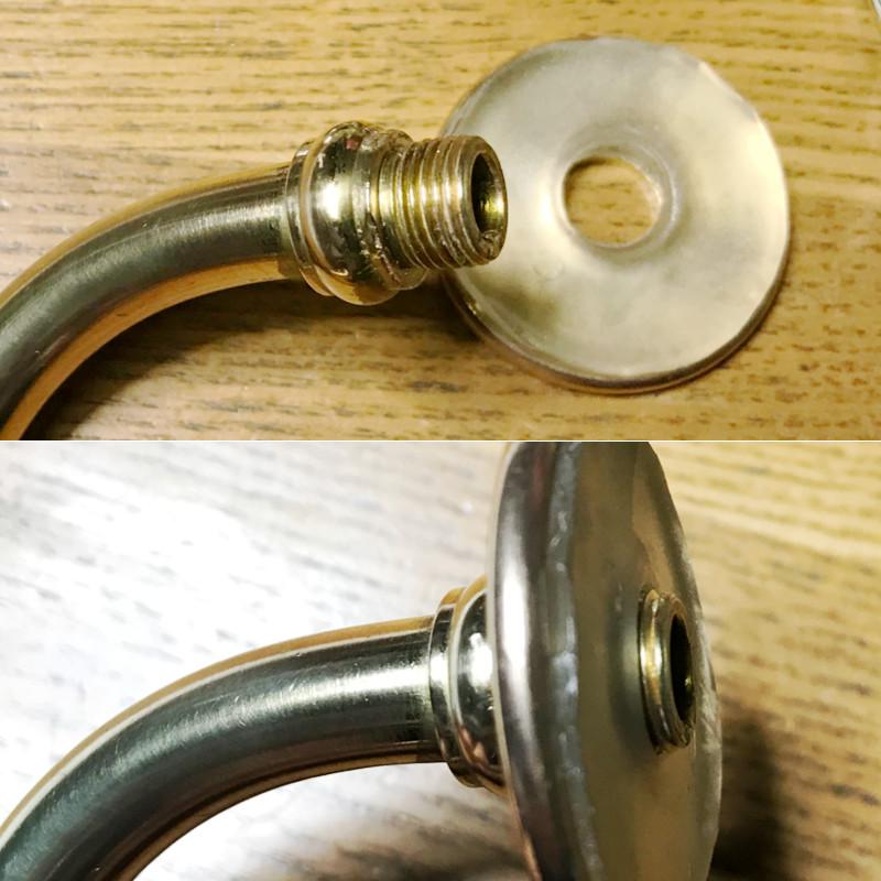 長さが足りないオリジナルの真鍮パーツ|シャンデリアレストア