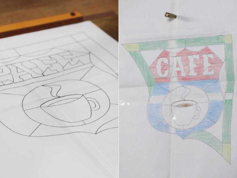 ルート66を彷彿とさせるサイン看板をデザイン|ステンドグラス製作